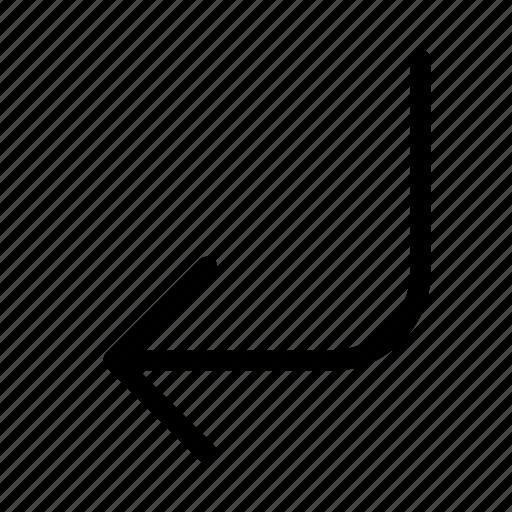 arrow, navigation, turn, way icon