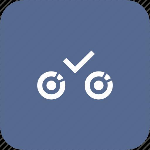 biometry, complete, eye, ok, process, scan icon