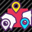 destinations, locations, maps icon icon