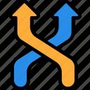 arrow, interface, shuffle, shuffle icon icon