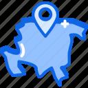 asia, globe, navigation icon icon