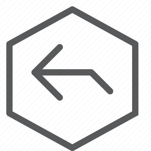 before, gps, hexagon, left, location, navigation, turn icon