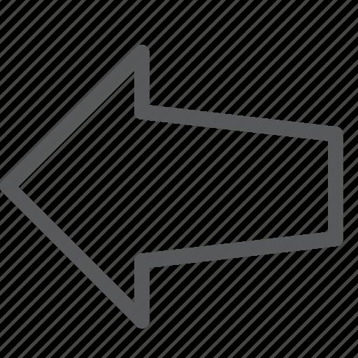 arrow, gps, left, locate, location, navigation, pointer icon
