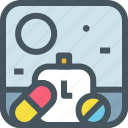 health, hospital, medical, medicine, pill, schedule, time icon