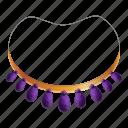 amethyst, bead, jewelry, necklace, ornament, purple