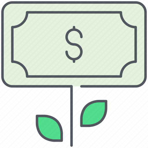 banknote, charity, deposit, donation, growth, interest rate, ngo icon