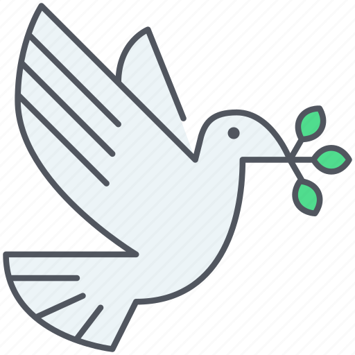 celebration, dove, flying, freedom, ngo, peace, pigeon icon