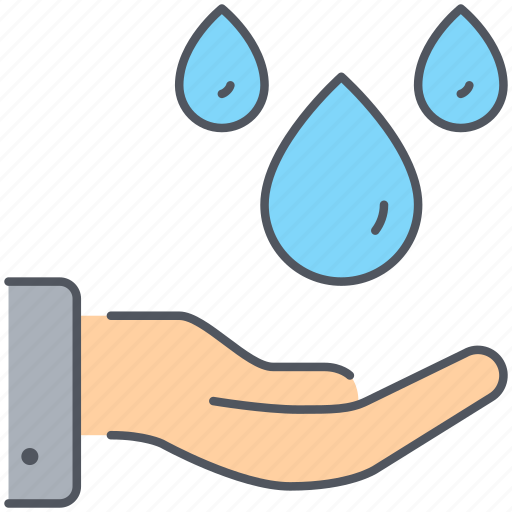 hand, help, humanitarian, ngo, resource, support, water icon