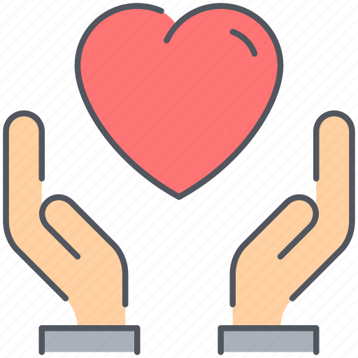 charity, donation, hand, help, humanitarian, love, ngo icon