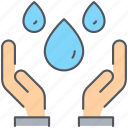 community, hand, humanitarian, ngo, resource, take, water icon