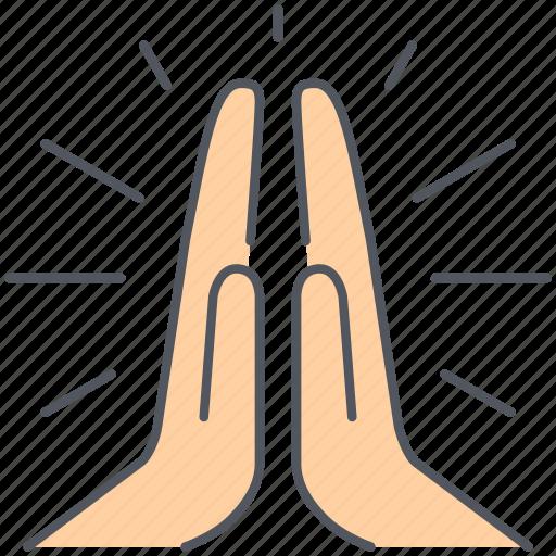 fate, god, hands, humanitarian, ngo, praying, spirituality icon