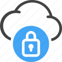 web, hosting, server, cloud, security, protection, lock icon