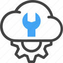 web, hosting, server, maintenance, cloud, repair, setting icon