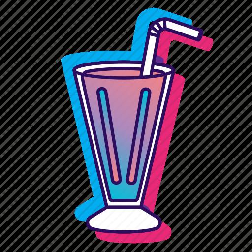 icecream, icecreamiconset, lpoole, milkshake, neon icon