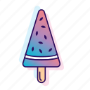 icecream, icecreamiconset, lpoole, neon, popsicle, watermelon icon