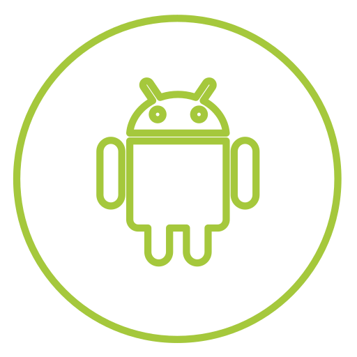 android, circles, line, mobile, neon, share, social icon
