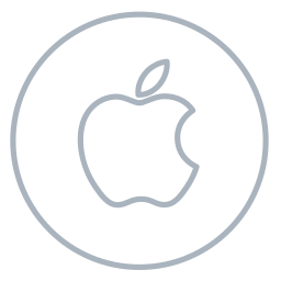 apple, circles, line, mac, machintosh, neon, social icon