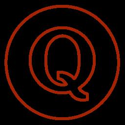 circles, line, neon, opinion, q&a, quora, social icon