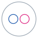 circles, flickr, images, line, neon, social, flag icon