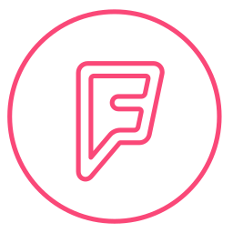 circle, foursquare, line, location, locations, neon, social icon