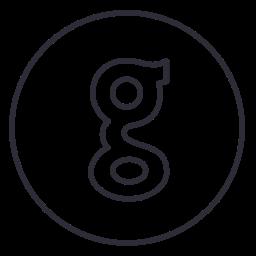 circles, code, developer, github, line, neon, social icon
