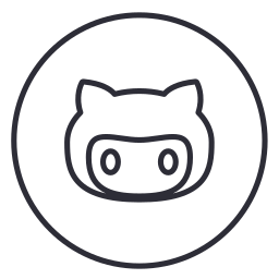 circles, code, developers, github, line, neon, social icon