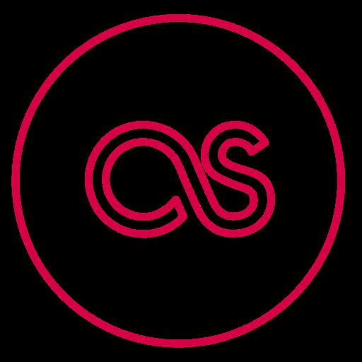 circles, lasf.fm, lastfm, line, music, neon, social icon