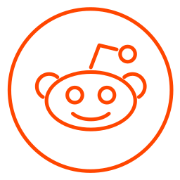 business, chart, line, neon, network, reddit, social icon