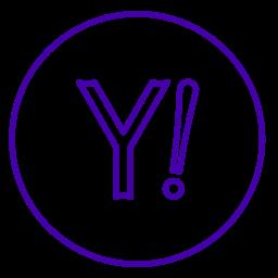 internet, line, neon, network, social, yahoo, yahoo! icon