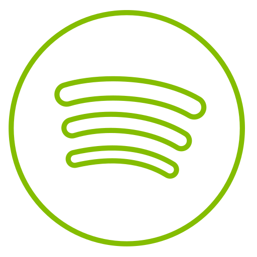 circles, line, music, neon, social, spotify icon