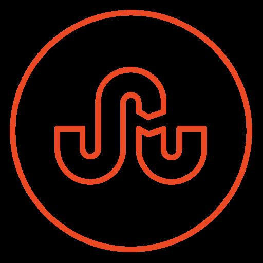circles, line, neon, social, stumbleupon, vote, web icon