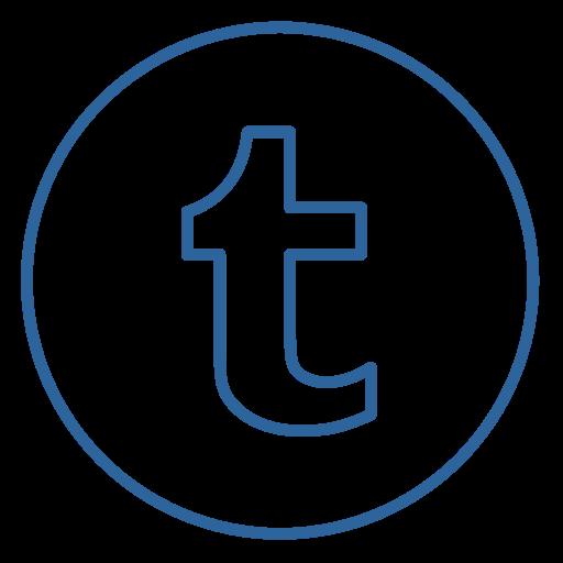 blog, circles, line, neon, news, social, tumblr icon