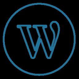 circles, cms, line, neon, social, wordpress, wp icon