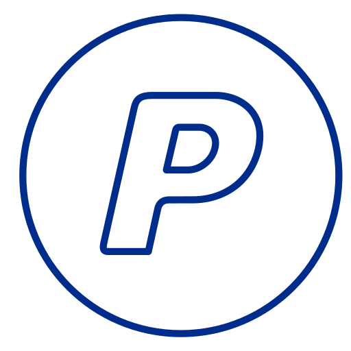 circles, line, neon, payment, payments, paypal, social icon