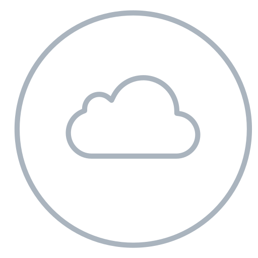 circles, cloud, icloud, line, neon, social, storage icon