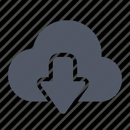 cloud, data, download, internet icon
