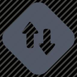 arrow, data, internet, sign, traffic icon