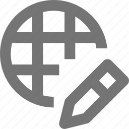 edit, network, pencil icon