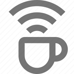 beverage, coffee, communication, connection, network, signal, tea icon