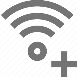 add, communication, connection, network, new, plus, signal, wifi icon