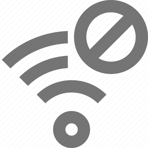 block, communication, connection, disable, network, signal, stop, wifi icon
