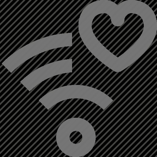 favorite, heart, like, signal, wifi icon