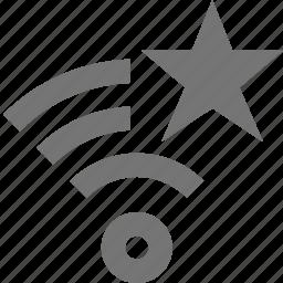 favorite, signal, star, wifi icon