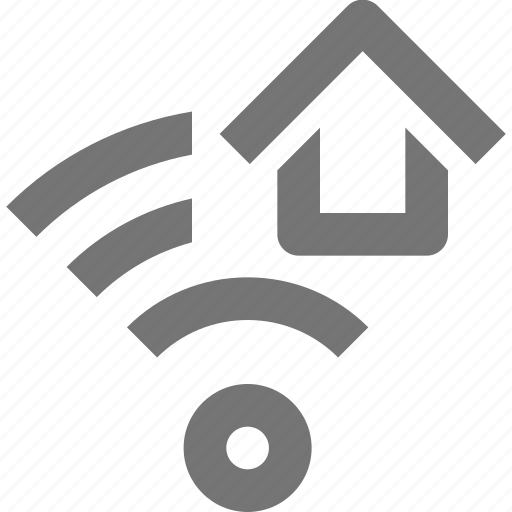 communication, connection, home, house, network, signal, wifi icon