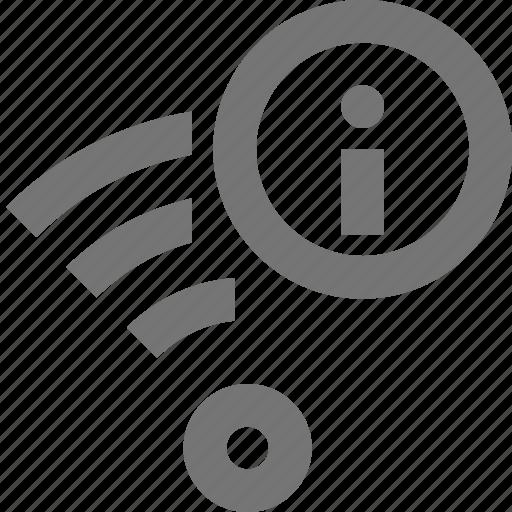 infomation, signal, wifi icon