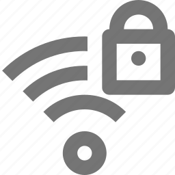 communication, connection, lock, network, safe, security, signal, wifi icon