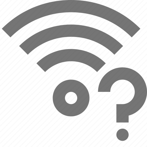 communication, connection, faq, help, network, question, signal, wifi icon