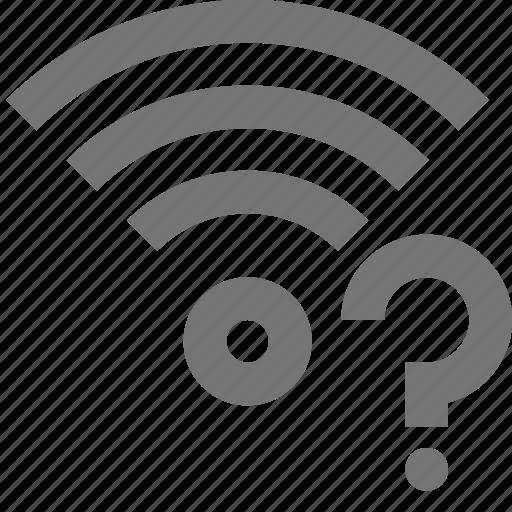 help, question, signal, wifi icon