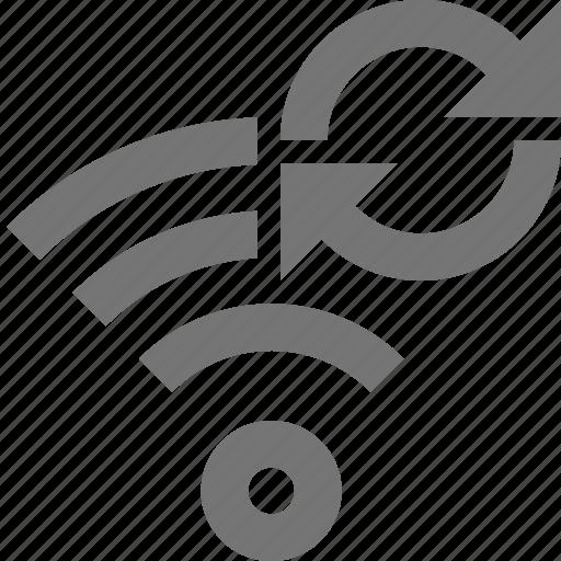 refresh, reload, signal, sync, wifi icon