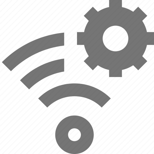 configuration, gear, settings, signal, wifi icon